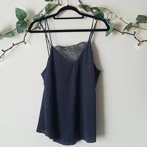 H&M Dark Gray Lace Tank Top